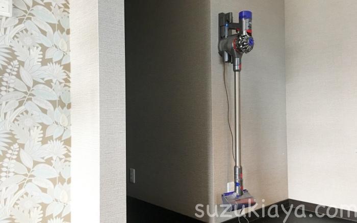 ダイソンコードレスクリーナーV8を充電してる場所は寝室
