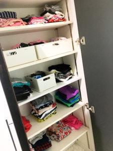 【子供服の収納】1階に「畳む収納」で使いやすく