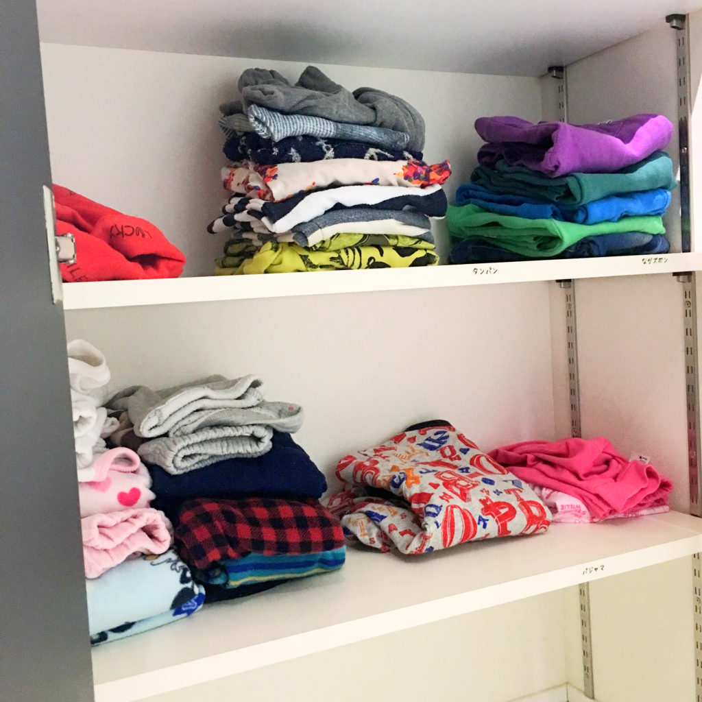 子供服の収納