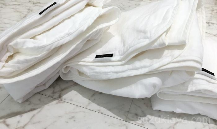 松並木の無添加ガーゼケットは1回洗うだけで膨らんだ。夏布団にぴったり