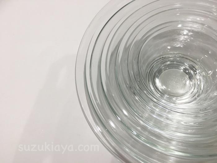 イワキの耐熱ガラスボウル5点セットをレビュー。大きさ比較と私の使い方もご紹介