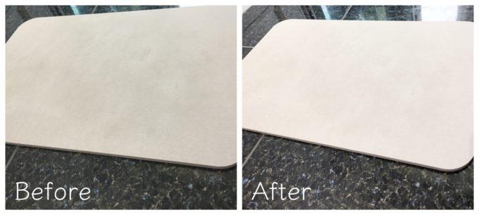 吸わない珪藻土バスマットのお手入れ方法はコレ!100均のやすりで削ってみた