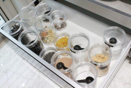 セラーメイトのチャーミークリアを調味料の保存容器に!乾物保管にもおすすめ