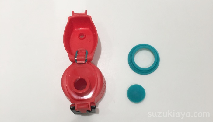 サーモスの水筒のパッキンは取りやすいし洗いやすい
