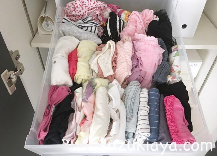 無印のppクローゼット引出式に子供服を収納