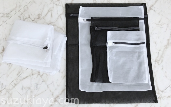 モノトーンのシンプルでおしゃれな洗濯ネット