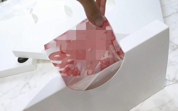 ゴミ袋専用ケースは取り出しやすい