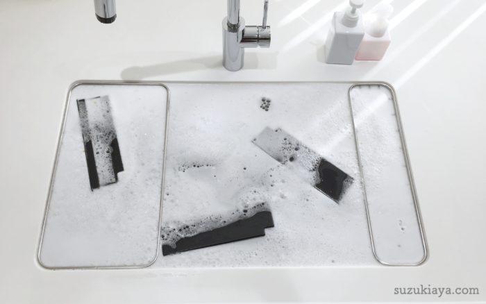 キッチンシンクでオキシクリーンを使って掃除