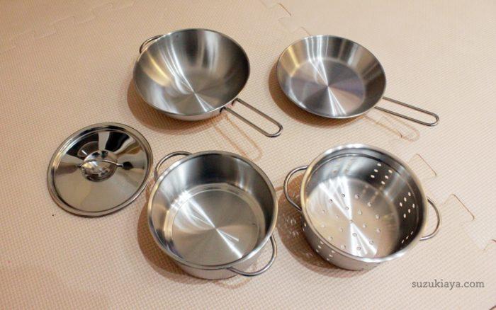 イケアのおままごとキッチンと一緒に買った調理器具5点セット