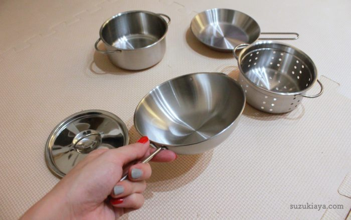 イケアのおままごとキッチンと一緒に買った調理器具セット