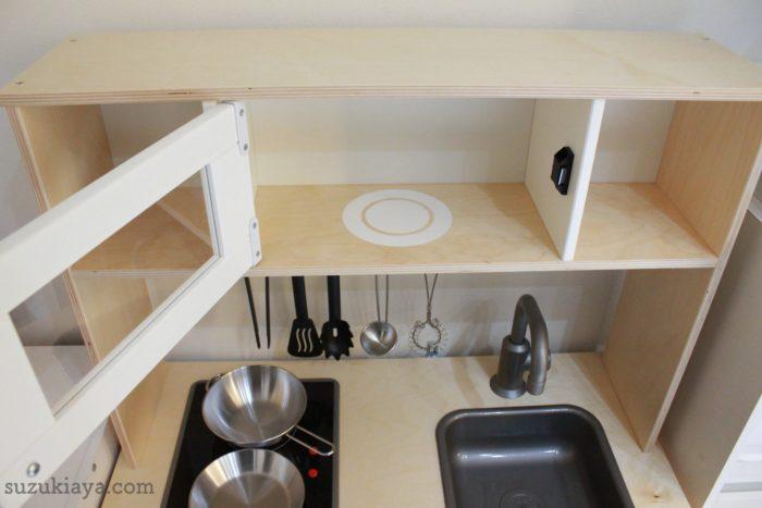 イケアのおままごとキッチンは電子レンジがついている