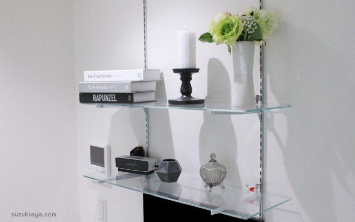 リビングインテリア*ガラス棚をイケアとフランフランの雑貨で飾り付け