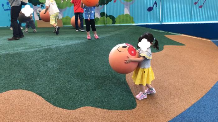 アンパンマンミュージアムでボールで遊ぶ