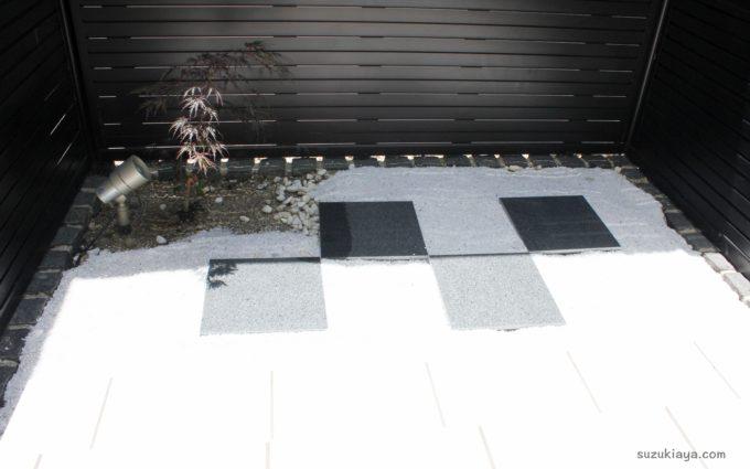 【外構DIY】坪庭を植栽とおしゃれな石で和モダンな仕上がりに*
