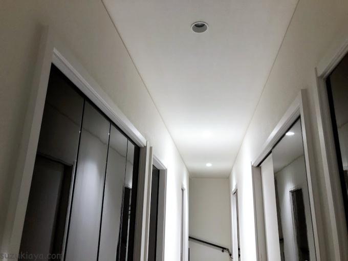 突然切れた一体型LEDダウンライト