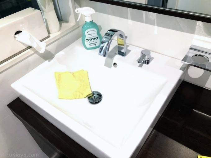 ウタマロクリーナーで洗面ボウルのお掃除