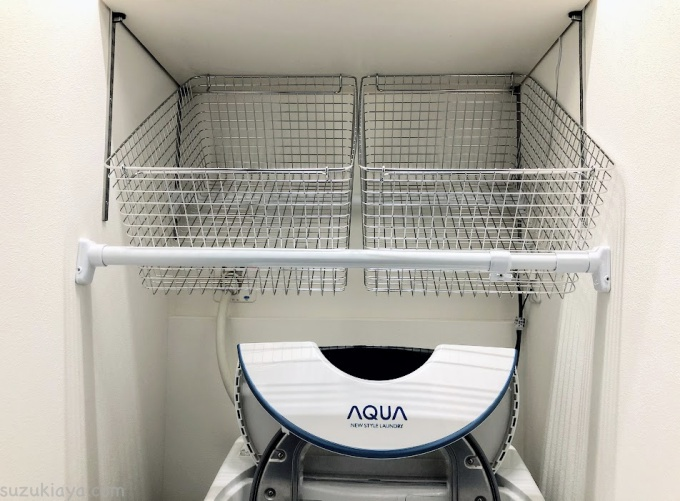 ランドリーバスケットを収納したい!洗濯機ラック風にDIYして洗面所もスッキリ