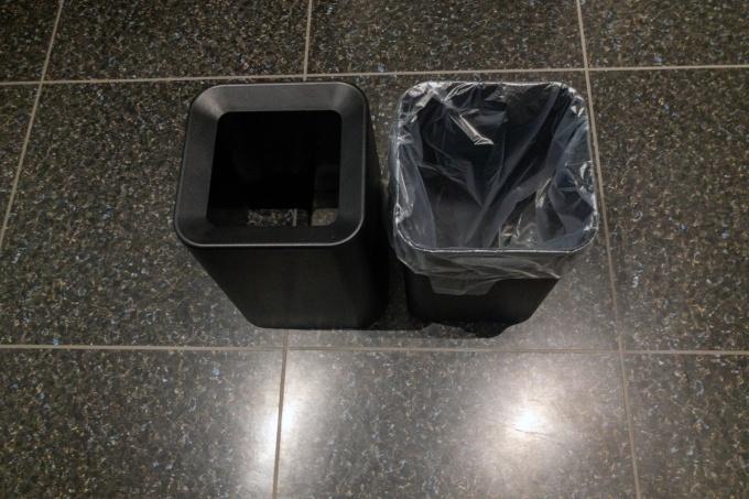 ニトリのゴミ箱はビニール袋を被せられる