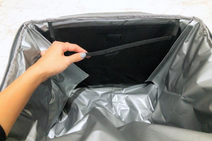 サーモスの保冷買い物カゴ用バッグ(レジカゴバッグ)の内ポケット