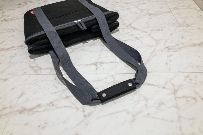 サーモスの保冷買い物カゴ用バッグ(レジカゴバッグ)の持ち手部分