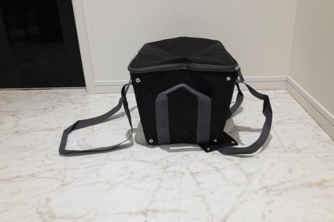 サーモスの保冷買い物カゴ用バッグ(レジカゴバッグ)のスナップボタン