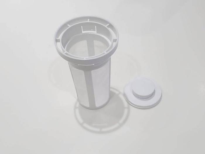 ニトリ「横置きできる茶こし付きワンプッシュ冷水筒2.1L」の茶こし