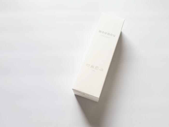 moumouのリードディフューザー「リネン」の箱