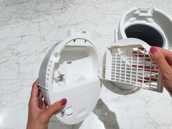 象印の加湿器の蒸気カバーは取り外して水洗い