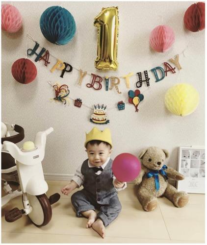 テディベアタイムのウェイトベアを1歳の誕生日に