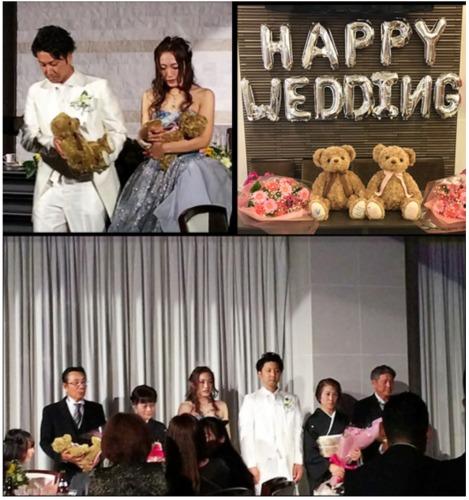 テディベアタイムのウェイトベアを結婚式で両親にプレゼント
