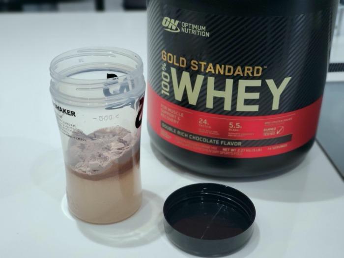 ゴールドスタンダードプロテインのダブルリッチチョコレートの飲み方