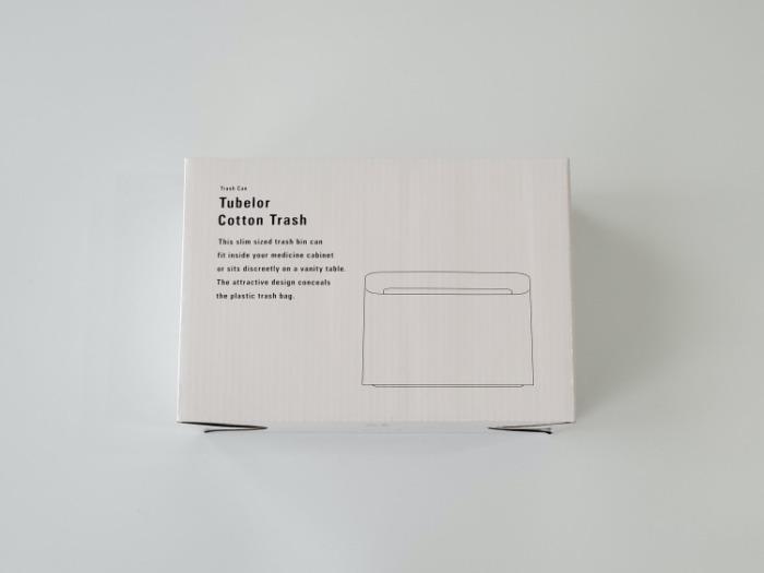 イデアコ(ideaco)のミニ卓上ゴミ箱「チューブラーコットンラッシュ」のパッケージ