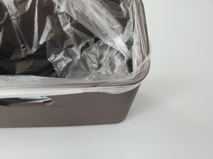 イデアコ(ideaco)のミニ卓上ゴミ箱「チューブラーコットンラッシュ」のゴミ袋