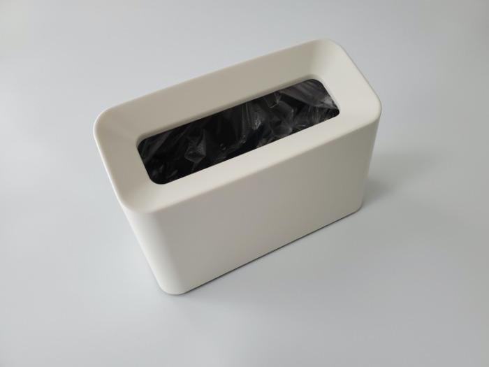 イデアコ(ideaco)のミニ卓上ゴミ箱「チューブラーコットンラッシュ」