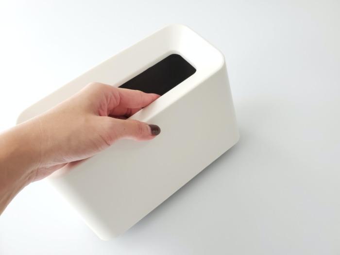 イデアコ(ideaco)のミニ卓上ゴミ箱「チューブラーコットンラッシュ」の取手