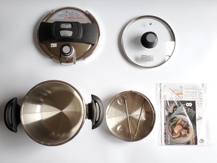 アイリスオーヤマの5L圧力鍋の付属品