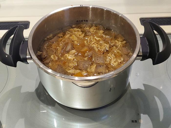 アイリスオーヤマの5L圧力鍋で作った豚汁