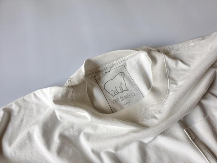 しまむら「AIR SHIELD」の遮熱、吸水速乾、接触冷感、UVカット機能がついたメンズオーバーTシャツ。