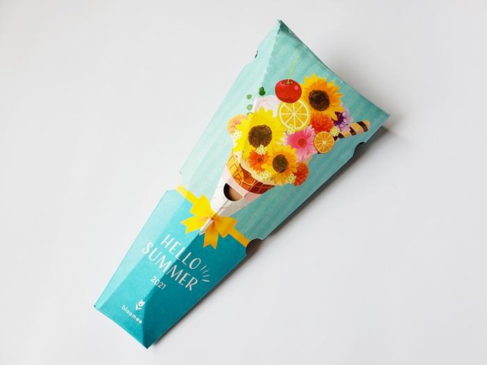 お花のサブスク「ブルーミー」の体験プランの箱