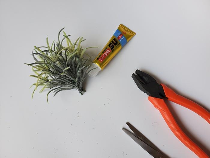 ダイソーのローズマリーの茎部分をカット