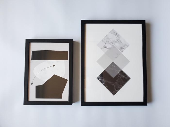Project Nordのポスター。A4と30×40cmを並べて比較