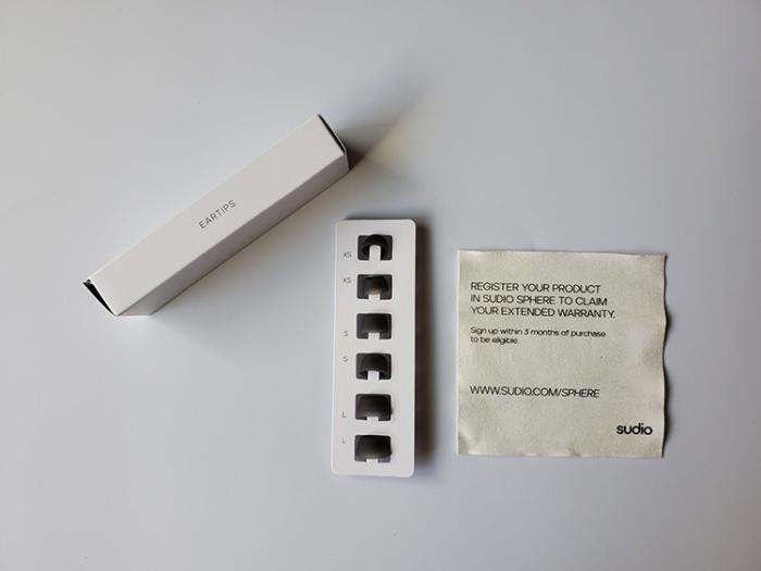 完全ワイヤレスイヤホン「Sudio T2」に付属のイヤーチップ